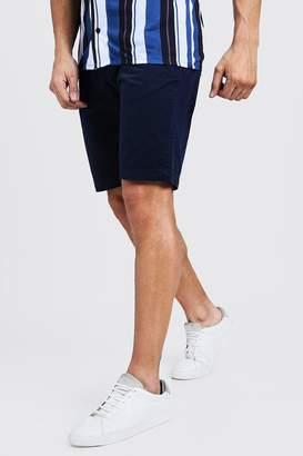 boohoo Slim Fit Cotton Chino Shorts