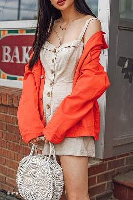 Urban Outfitters Billie Button-Front Romper