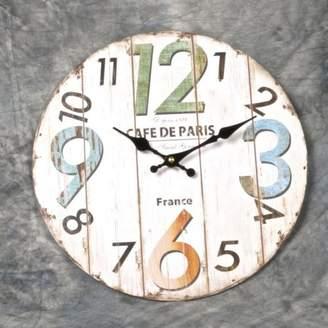 "Red Barrel Studio Zavala Cafe De Paris 13.2"" Wall Clock"