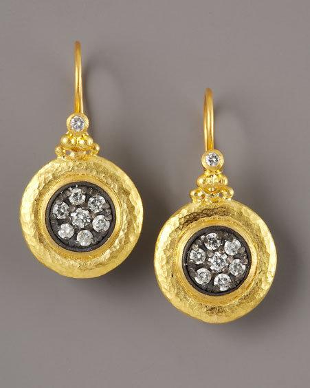 Gurhan Pave Diamond Drop Earrings