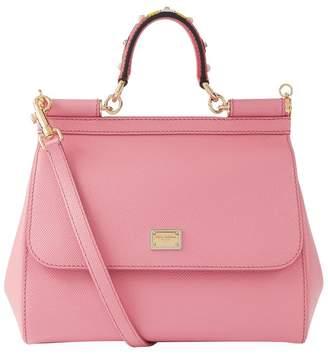 7fc237f276db Dolce   Gabbana Medium Leather Appliqué Handle Sicily Bag