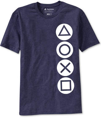 Ripple Junction PlayStation Buttons Men Graphic T-Shirt