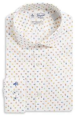 Original Penguin Printed Cotton Dress Shirt