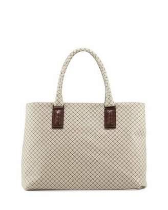 Bottega Veneta Medium Intrecciato-Trim Stamped Rubber Tote Bag