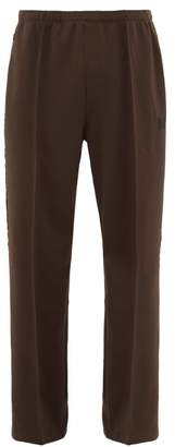 Needles Logo Embroidered Velvet Trimmed Track Pants - Mens - Brown