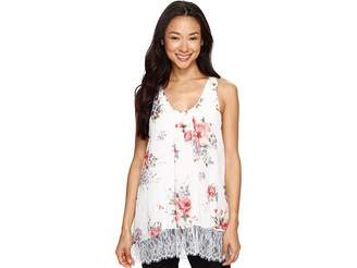 Karen Kane Lace Hem Tank Top Women's Clothing
