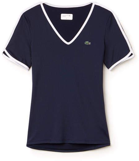 Damen SPORT Tennis T-Shirt mit V-Ausschnitt