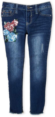 Vigoss Girls 7-16) Sequin Bouquet Skinny Jeans