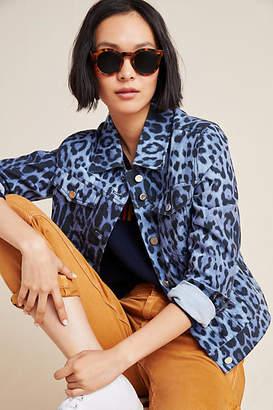 Bagatelle Leopard Denim Trucker Jacket