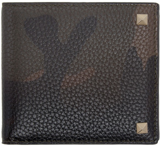 Valentino Green Camo Rockstud Bifold Wallet $375 thestylecure.com