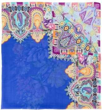 Etro paisley floral print scarf