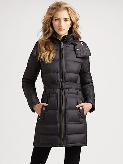 Burberry Quilted Buckle Belt Puffer Coat