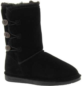 BearPaw Boots Girl Lauren Toggle Suede Sheepskin 1 Child 1656Y
