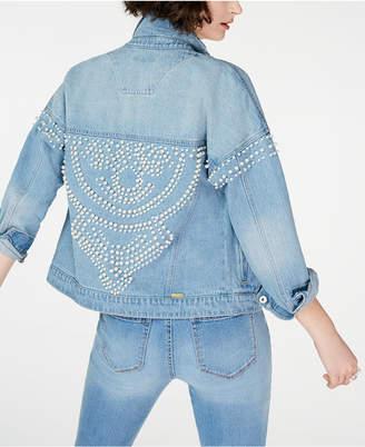 INC International Concepts I.n.c. Cotton Embellished Denim Jacket