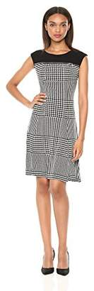 Calvin Klein Women's Sleeveless Dress with Zipper Yoke