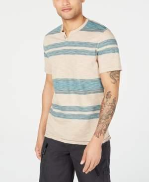 INC International Concepts I.n.c. Men's Stripe Split-Neck T-Shirt, Created for Macy's