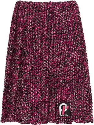 Prada pleated knickerbocker fabric skirt