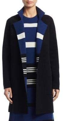 Akris Reversible Knit Cashmere Coat