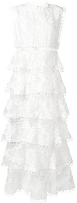 'Winsome' embroidered tiered dress