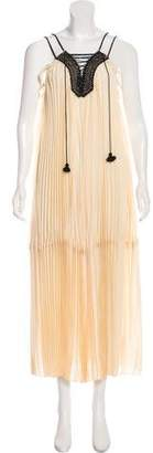 Rachel Zoe Pleated Sleeveless Dress