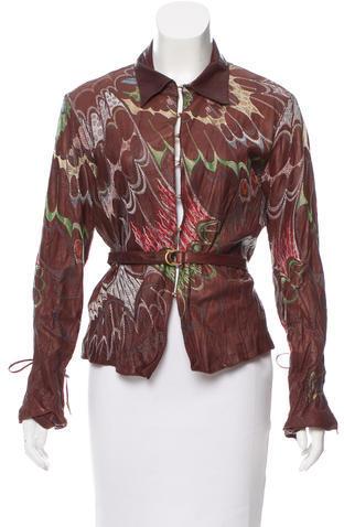 Roberto CavalliRoberto Cavalli Embroidered Leather Jacket