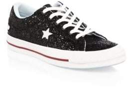 Converse Chiara Ferragni One Star Glitter Leather Sneakers