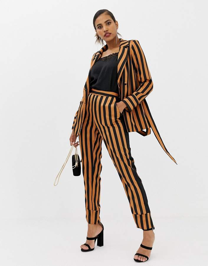 Y.A.S Soft Stripe Wide Leg Trousers Ord