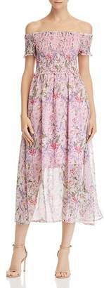 Sam Edelman Off-the-Shoulder Floral Dress