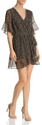Sadie & Sage Ditsy Printed Faux Wrap Mini Dress