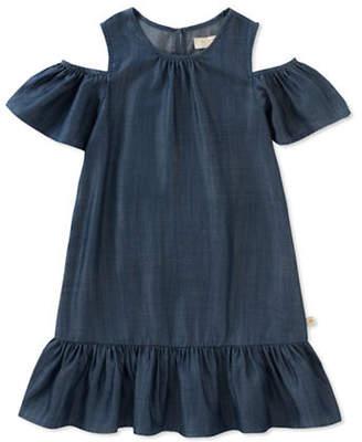 Kate Spade Chambray Cut-Out Dress