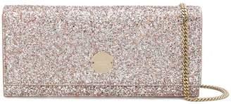 Jimmy Choo Fie glitter clutch bag