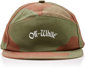 Off-White Embroidered Camouflage Cotton-Canvas Baseball Cap
