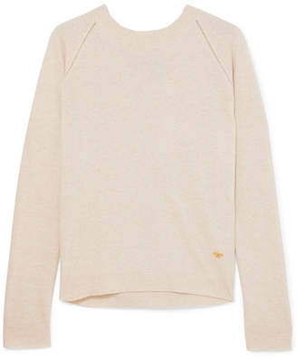 Tory Burch Bow-detailed Knitted Sweater