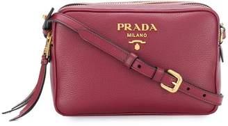Prada Saffiano double zip crossbody bag