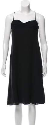 Armani Collezioni Silk Sleeveless Midi Dress