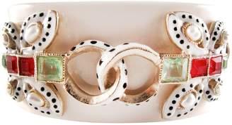 Chanel White Plastic Bracelet