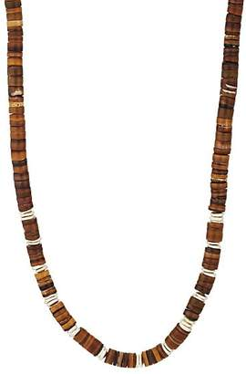 Barneys New York Men's Shell & Sterling Silver Necklace - Brown