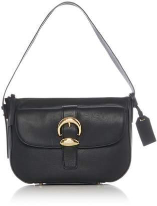 DKNY Pebbled buckle small flap over hobo bag