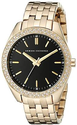 Armani Exchange Women's AX5510 Analog Display Analog Quartz Gold Watch