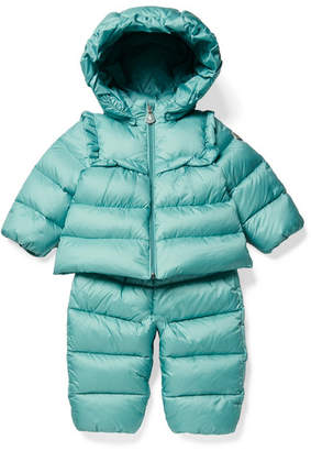 Moncler Months 3 - 24 Rorotea Hooded Quilted Shell Down Jacket And Pants Set