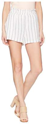 Vince Camuto Pinstripe Linen Pull-On Shorts Women's Shorts