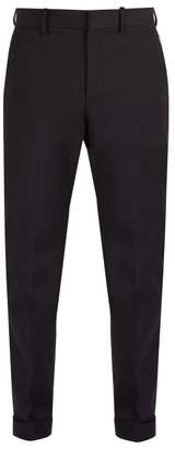 Bottega Veneta Mid Rise Cotton Blend Chino Trousers - Mens - Black
