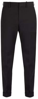 Bottega Veneta - Mid Rise Cotton Blend Chino Trousers - Mens - Black
