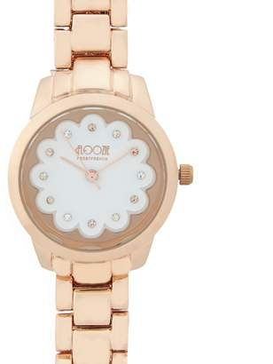 Floozie by Frost French Ladies Gold Plated Scalloped Detail Watch