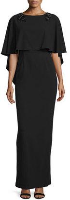 ZAC Zac Posen Sydney Column Gown with Cape $1,490 thestylecure.com