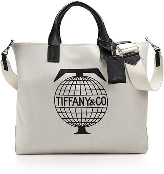 25bf1ff17c Tiffany   Co.   Co. Travel weekend tote in cotton canvas with black grain