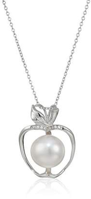 Bella Pearl Sterling Silver Apple Shaped Freshwater Pendant Necklace