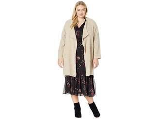 Calvin Klein Plus Plus Size Long Flyaway Jacket