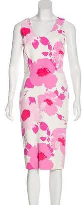 Victoria Beckham Floral Sheath Dress
