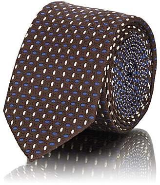 Prada Men's Geometric-Dot Silk Jacquard Necktie